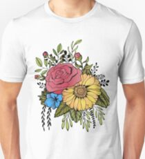 SUNFLOWER & ROSE Unisex T-Shirt