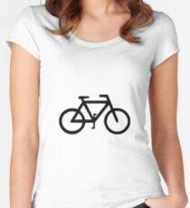 Bike Bicycle Cyclist Biker Women's Fitted Scoop T-Shirt