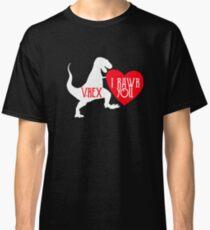 I Rawr You Loveasaurus V-Rex Classic T-Shirt