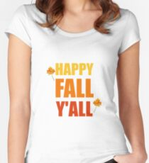 Happy Fall Y'all Women's Fitted Scoop T-Shirt