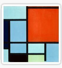 Piet Mondrian Composition Sticker