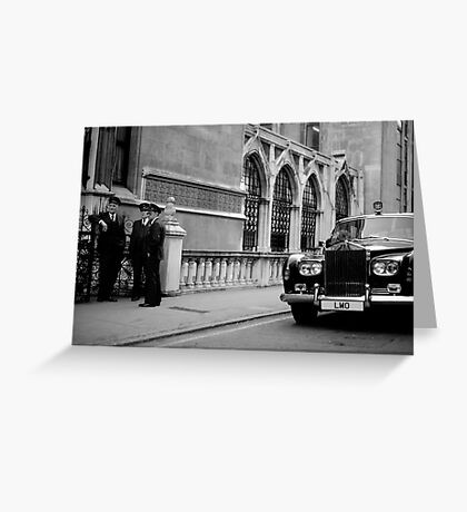 Fleet Street Chauffeur's Greeting Card