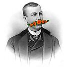 Vintage gentleman & Mustache with flowers by creativelolo