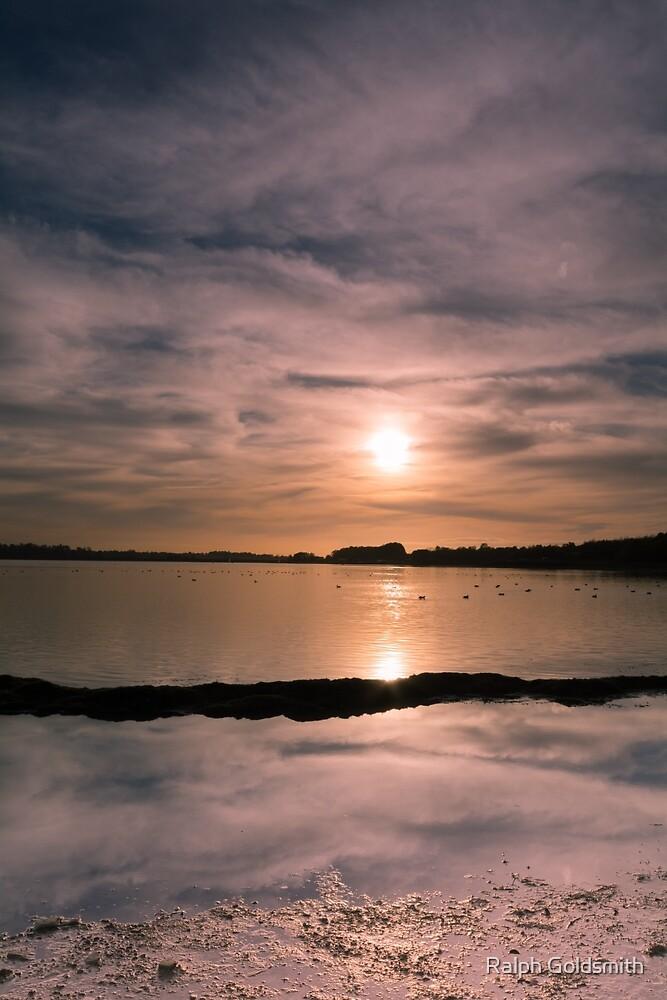 Pitsford Reservoir Sunset by Ralph Goldsmith