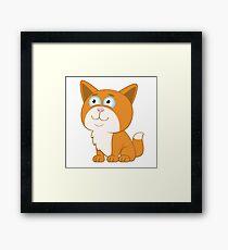 Adorable cartoon cat Framed Print