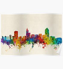 Raleigh North Carolina Skyline Poster