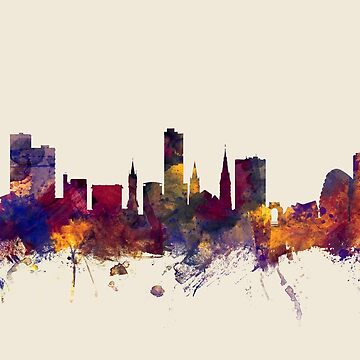Leicester England Skyline by ArtPrints