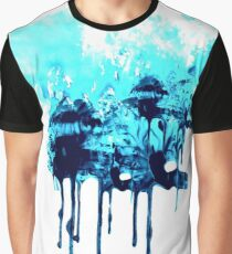Blue INK Cloud Graphic T-Shirt