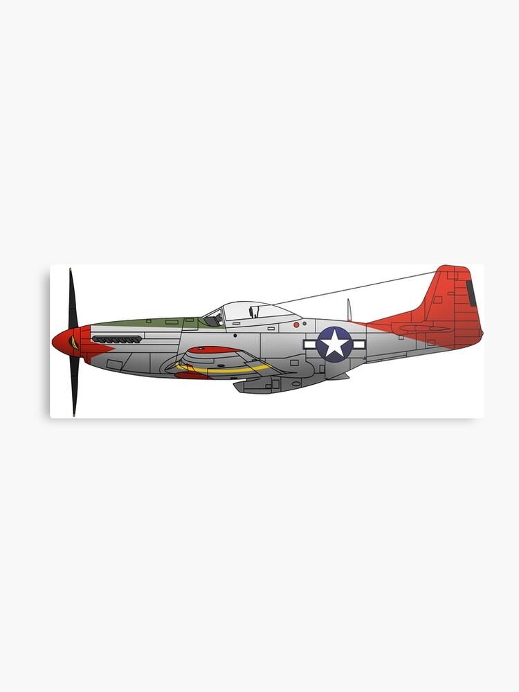 P 51d Mustang Red Tails Tuskegee Airmen Metal Print
