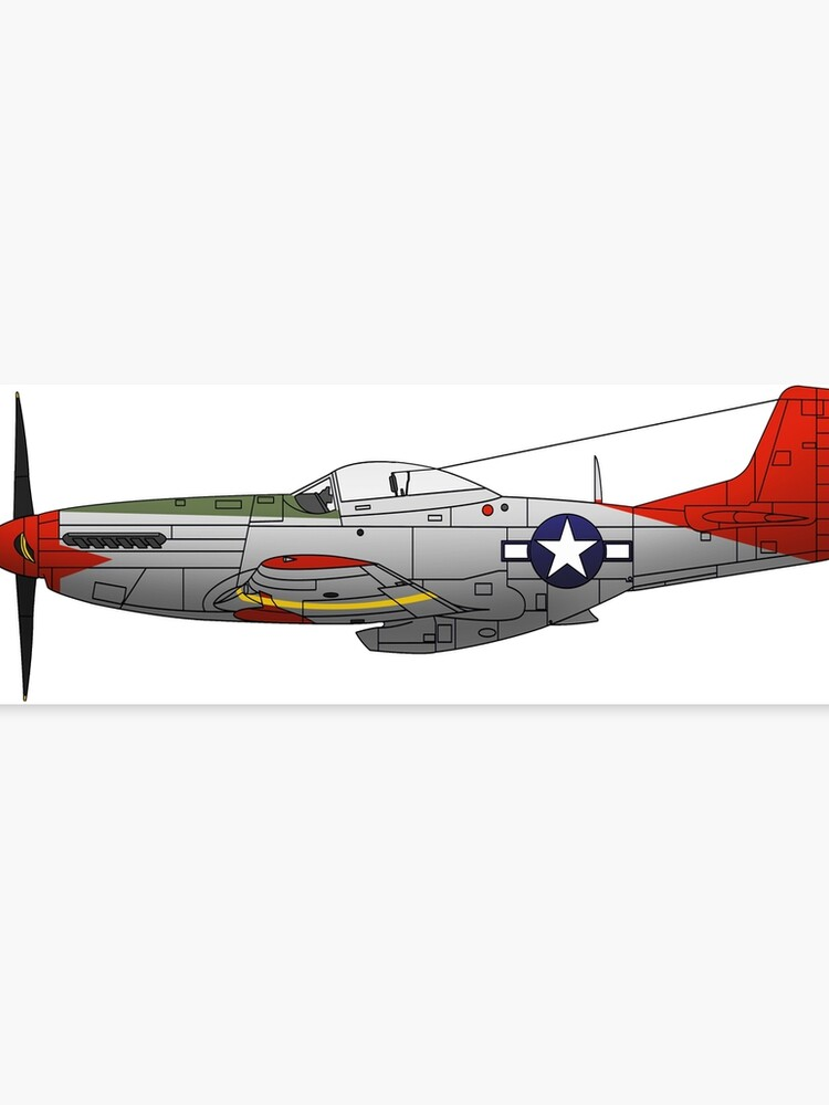 P 51d Mustang Red Tails Tuskegee Airmen Canvas Print