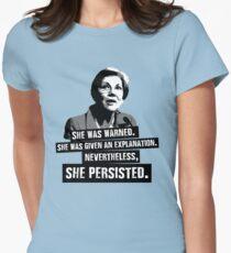 Elizabeth Warren: She Persisted Women's Fitted T-Shirt