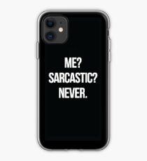 Vinilo o funda para iPhone ¿Yo? ¿Sarcástico? Nunca.