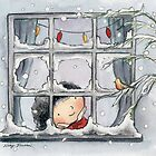 Christmas Window by Nicky Johnston