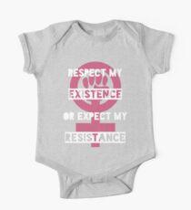 Resistance is feminine  One Piece - Short Sleeve