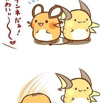 Pokémon - Dedenne & Raichu by FraXx