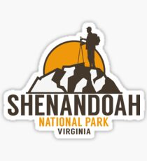 SHENANDOAH NATIONAL PARK VIRGINIA HIKING HIKER HIKE MOUNTAINS Sticker