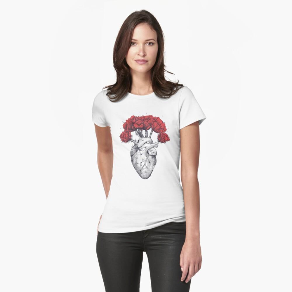 Cactus heart Womens T-Shirt Front