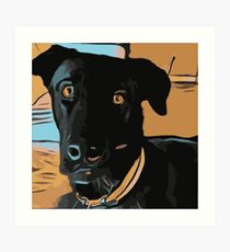 Max the dog Art Print