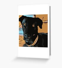 Max the dog Greeting Card