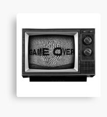 Retro TV Game Over! Canvas Print