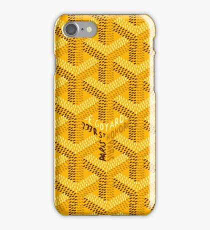 Goyard - Yellow iPhone Case/Skin