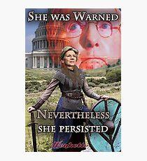 She Was Warned - Elizabeth Warren Photographic Print