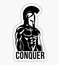 Spartan Conquer Sticker