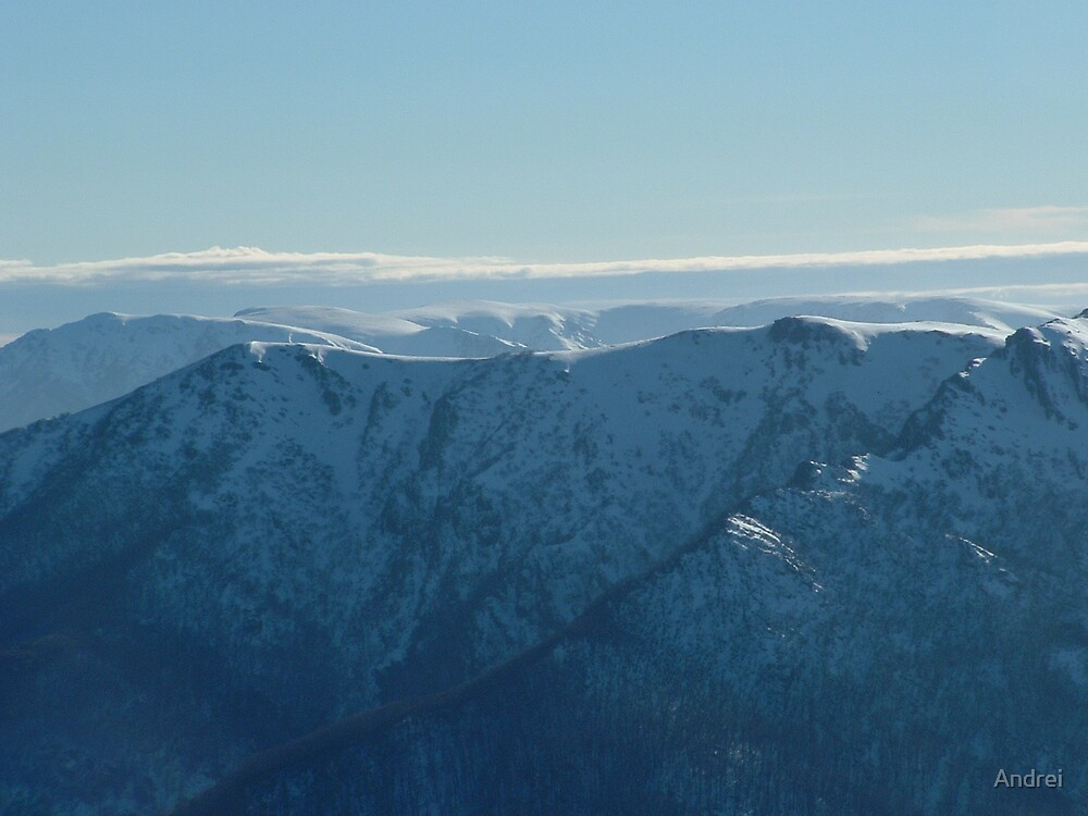 Mt.Fainter and Bogong plains on the background by Andrei