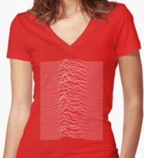 Joy Division HQ print Women's Fitted V-Neck T-Shirt