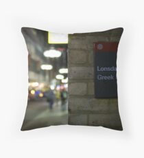 The Stories of Lonsdale and Little Bourke Throw Pillow