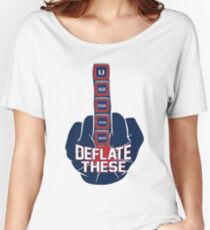Deflate These - 5 Rings Middle Finger Fist Women's Relaxed Fit T-Shirt