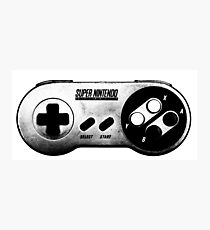 Faded Snes Controller Photographic Print