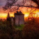 Sunset over Castle Campbell in Scotland by Jeremy Lavender Photography
