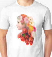 Floral portrait Unisex T-Shirt
