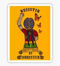 Pegatina Resistir sobrevivir (versión en color)