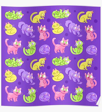 Whole Lotta Cat (Neon version) Poster