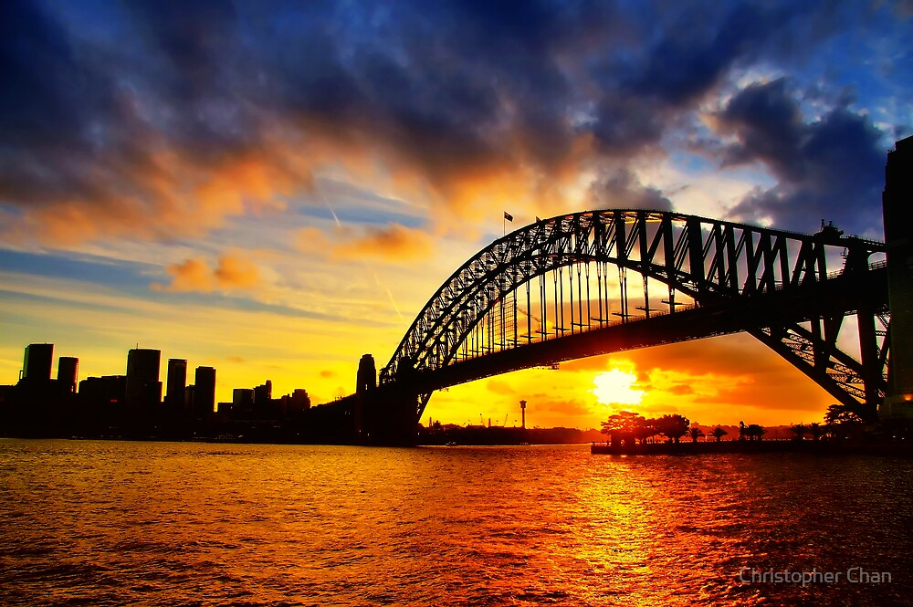 Sydney Harbour Bridge Sunset by Christopher Chan