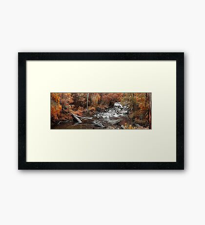 Cascades In Autumn  Framed Print