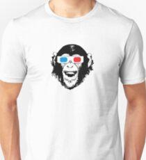 CoolChimp wearing 3D glasses Unisex T-Shirt