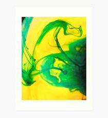 Green liquid heat Art Print