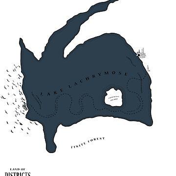 Lachrymose Lake map by raffons