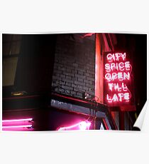 Brick Lane, open till late Poster