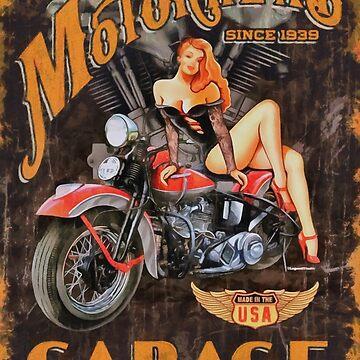 Motorhead Garage Vintage Poster by CatyArte