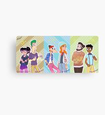 Phineas and Ferb - Hipster Gang Canvas Print