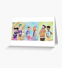 Phineas and Ferb - Hipster Gang Greeting Card
