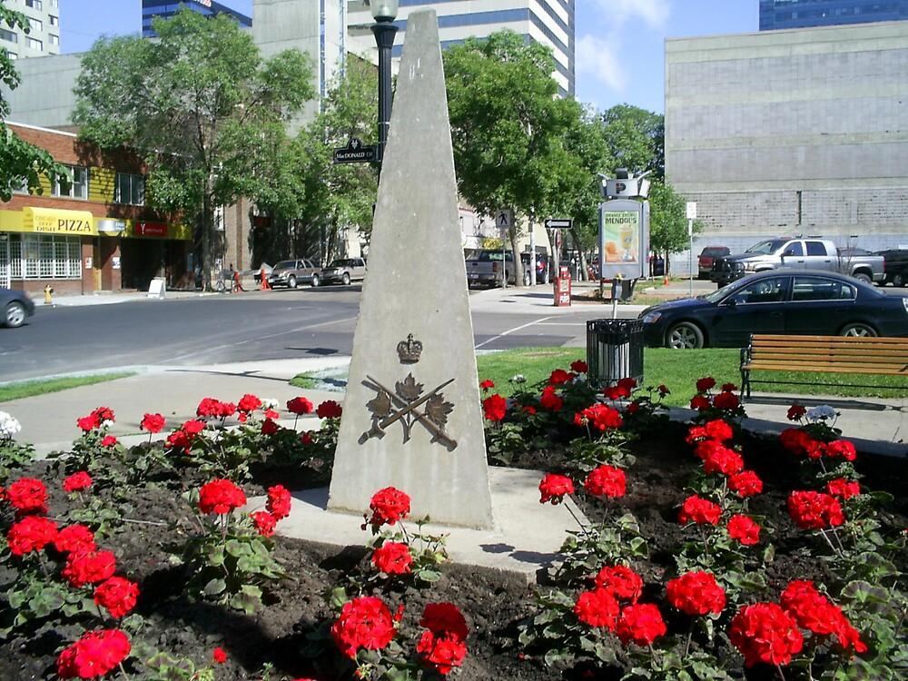 monuments in flower garden by oilersfan11