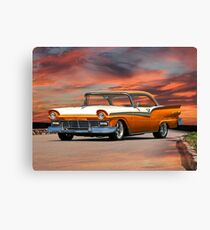 1957 Ford Fairlane 500 Hardtop Canvas Print