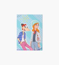 Phineas and Candace, hipsters! Art Board