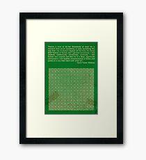 David Foster Wallace Framed Print