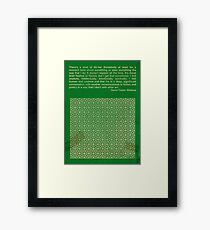 David Foster Wallace Framed Print